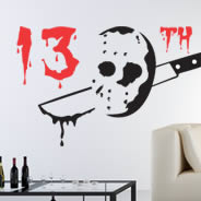 13th haloween wall tattoo