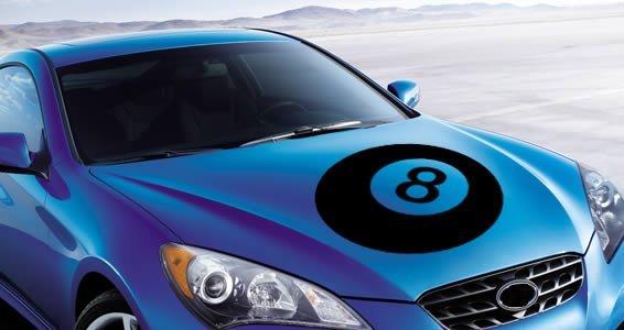 8 Ball car decals