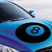8 Ball car decals