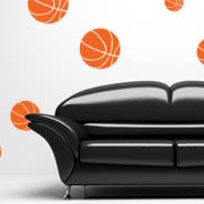 Double Dribble basket ball decals