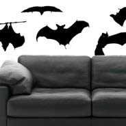 Bats halloween wall stickers