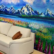 Blue Mountains wall mural