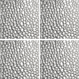 Raindrop Silver Squares wall metal clings
