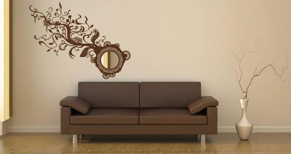 Floral Branch acrylic miror and vinyl