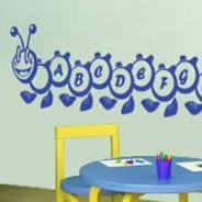 A to Z Alphabet Caterpillar wall stickers