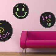 restickable wall sticker Chalk Circles chalkboard wall stickers (Set of 4)