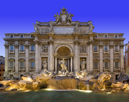 Trevi Fountain wall murals