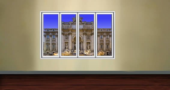 Trevi Fountain Faux Window Murals Dezign With A Z