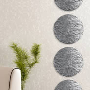 Raindrop Silver Circles metal wall clings