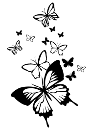 Butterflies in the Wind car sticker