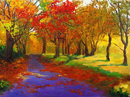 Lovely Fall on framed canvas