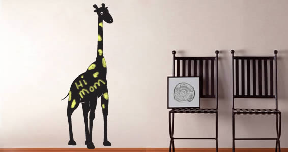 Happy Giraffe wall decals
