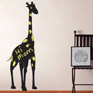 Happy Giraffe wall decals chalkboard