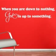 God Is Up To Something wall decal phrase