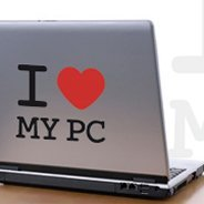I Love My PC laptop decals skin
