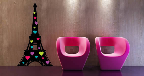 Paris Je t'aime wall stickers