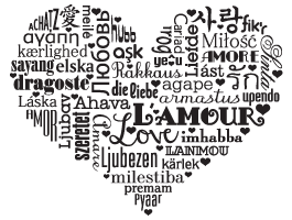 Language of Love wall decal