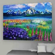 Mountains canvas