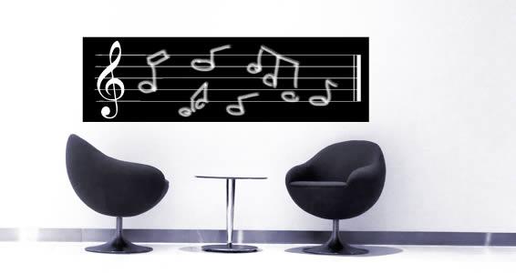 Musichalk blackboard wall tattoo