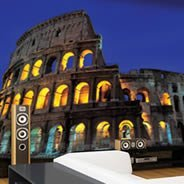 Nightfall at the Colosseum wall paper