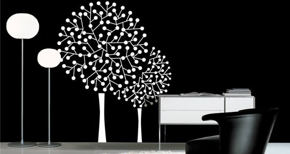 Contemporary Tree wall decals