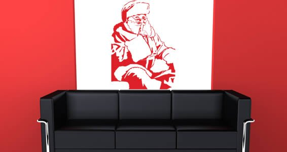 Secret Santa vinyl home decals