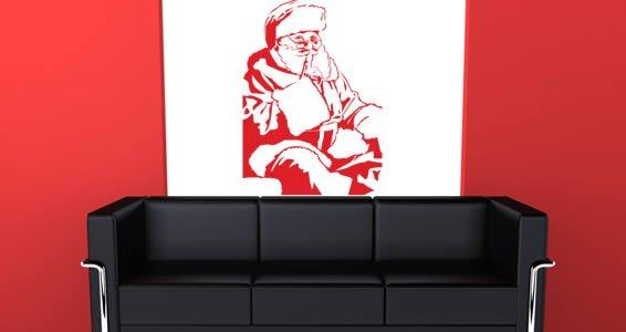 Secret Santa vinyl home decals