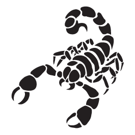 Scorpio car decals