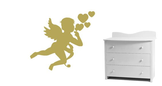 Cupid angel wall decals