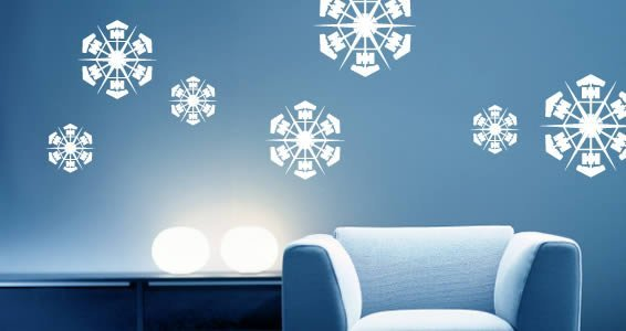 Ordinaire Snowflakes Pack Vinyl Wall Decals
