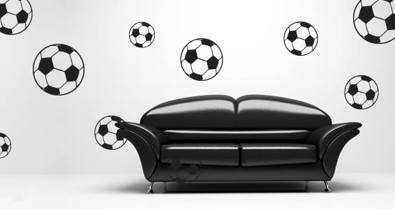 Soccer ball wall decals