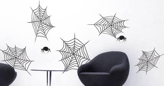 Spiderwebs vinyl wall decals