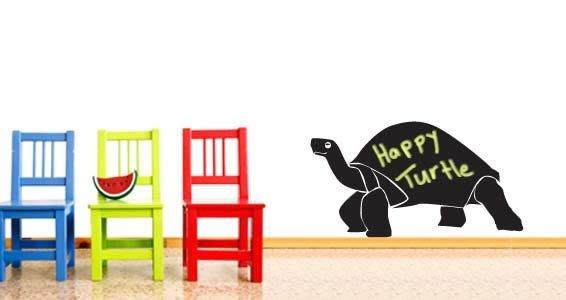 Happy Tortoise chalkboard stick-ons