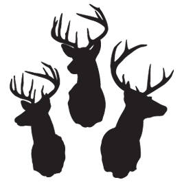 3-Deers removable wall tattoos