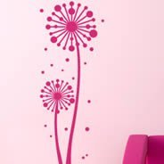 Large Winkle Flowers vinyl wall decals