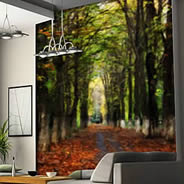 Winter Path wall mural