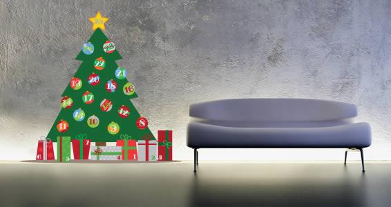 Christmas Tree Advent Calendar decal