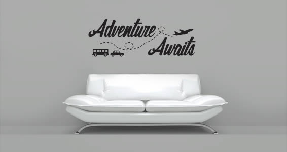 Adventure Awaits decal quotes