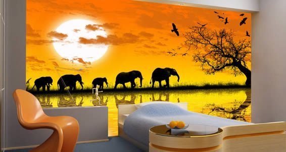 Africa wall papers dezign with a z for African wall mural