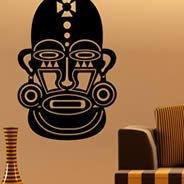 African Mask wall decals