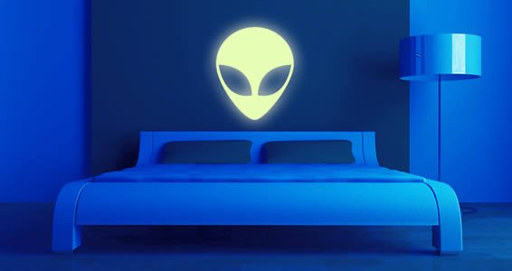 Alien Glow In The Dark Space Wall Decals