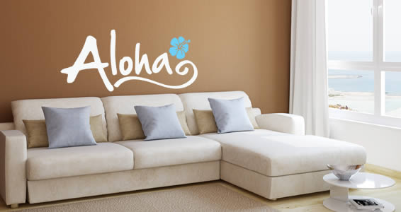 Aloha wall decal