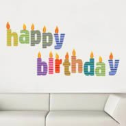 Alphabet Candles wall decals