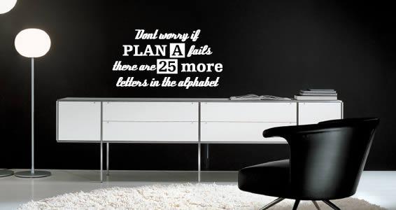 Alphabet Plan quote decals