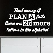 Alphabet Plan quote decals
