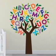 sc 1 st  Dezign With a Z & Alphabet Tree wall decals | Dezign With a Z