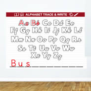 Alphabet Trace and Write Dry Erase Wall Decal