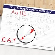 Dry Erase Alphabet Write and Trace Decal