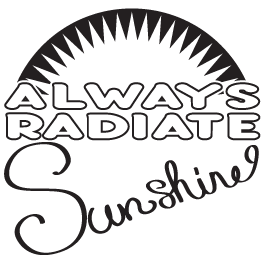 Radiate Sunshine wall quote decal