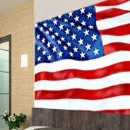 American Flag Dry Erase Furniture Decal Skin